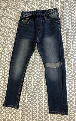 Boys H&M Super Skinny Jeans Age 4-5 Blue Washed Ripped