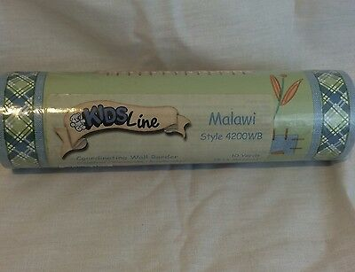 Kidsline MALAWI Wall BORDER Style 4200WB Safari Elephant  Giraffe 10 Yards ~RARE