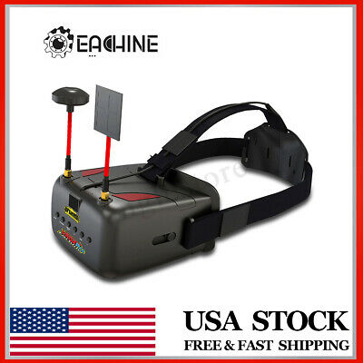 Eachine VR D2-Pro 5'' Race 5.8G receiver FPV Goggles Glasses DVR For RC Drone