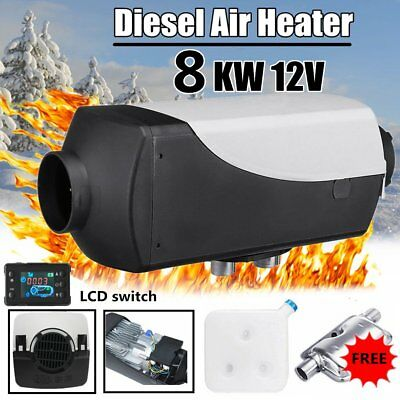 8KW 12V Air diesel Heater For Car Trucks Motor-homes Boats Bus + LCD Switch QT