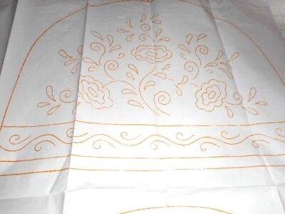 Large Vintage Embroidery Iron on Transfer No.5 - Flowers