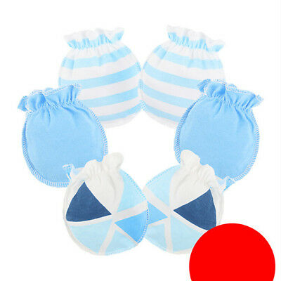 3 Pairs Soft Newborn Baby Handguard Anti-Scratch Cartoon Mittens Gloves 6A