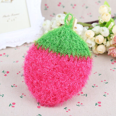 68BD Acrylic Stawberry Dishcloths Fiber household  cleaning hot  random color