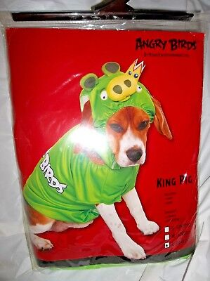 Halloween Angry Birds 2 piece Dog Pet Costume-King Pig Size Large