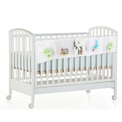 Baby Cot Bed Crib Hanging Toys Diaper Clothes Mesh Storage Organizer Bags Pouch