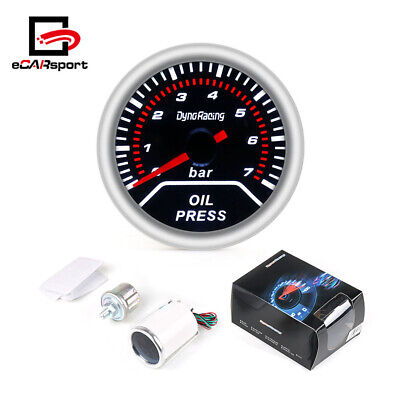 "Universa Oil Pressure Gauge 2"" 52mm with Sensor 0-7 LED Bar Meter"