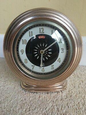 Vintage Equity Empire Made Kaleidoscope Alarm Clock Art Deco Style Retro Rare