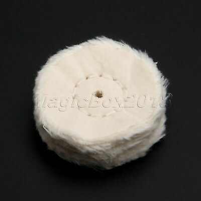 """2"""" Spiral Stitched Cotton Buffing Polishing Wheel For Craft Jewelry Metal Wood"""