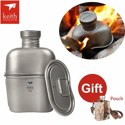 Keith Titanium Military Canteen Camping Hiking Outdoor Bottle Cup 1.7L Large