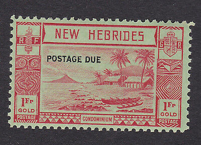 New Hebrides 1938 1f red/green Postage Due S.G. D10  mint hinged