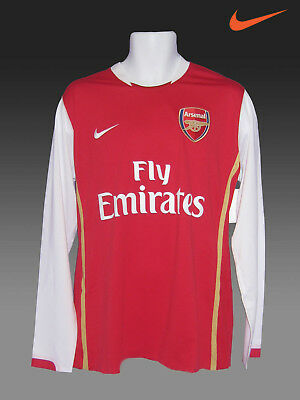 Nike Arsenal Fußball Club Player Issue Cl 2006 - 08 Lange Langärmlig A Grad L