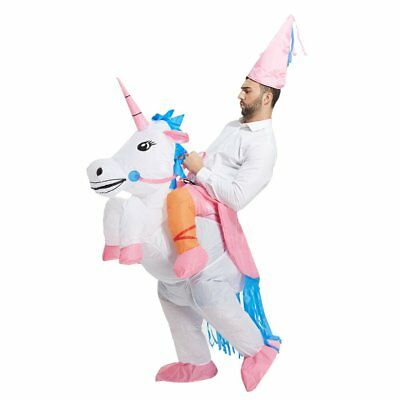 Inflatable Unicorn Rider Costume  Inflatable For Adults / Child Halloween BlowUp