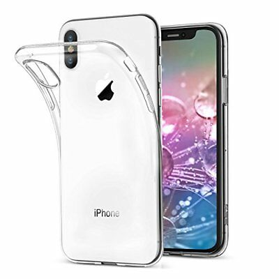 iPhone XS Max XR Case, Genuine Clear Liquid Crystal Slim Soft Cover for Apple X