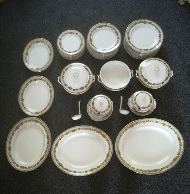 Coronaware S Hancock & Sons Floral Pattern Dinner Service 12 seating pre1937
