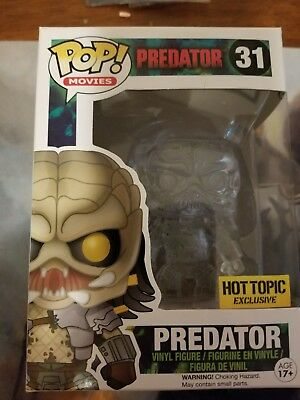 Funko POP! Movies Predator Hot Topic Exclusive Clear, Bloody # 31