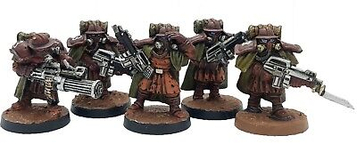 Target Games Warzone Imperial Trenchers Squad Expertly Painted Five Miniatures