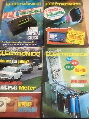 Practical Electronics. 4 Issues. Apr-July 1974
