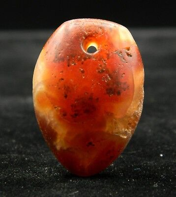 KYRA MINT -ANCIENT Agate PENDANT with MICROGEODE -25.6mm long-Saharian NEOLITHIC