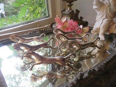 Delightful Set Of Six Vintage French Porte Couteaux Knife Rests ~ Little Horses
