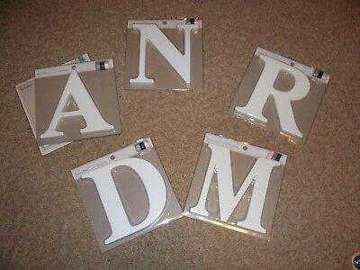 NEW Koala Baby UPPER CASE WOODEN Wall Letter - White M D A N R AVAILABLE SELECT