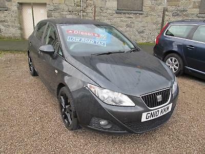 Seat Ibiza 1.6 TDI CR Sport 5 Door in Black Metallic