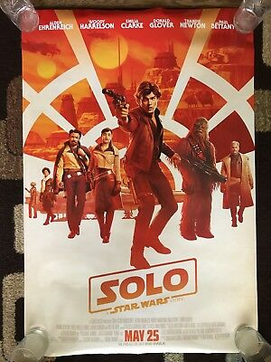 Solo A Star Wars Story Original Movie Poster 27X40 Double Sided U.S. Final 2018