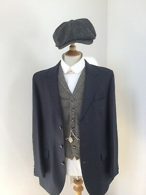 """Peaky Blinders Style Vintage Suit. 42"""" Chest. Dunn And Co. 100% Wool."""