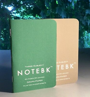 Notebks THREE SUBJECT edition Sealed Pack of 2 memo pads field notes books
