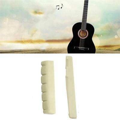 Acoustic & Classical Guitar Parts String Faux Bone Bridge Saddle And Nut Real H