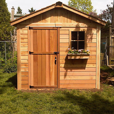 Outdoor Living Today Gardener 8 ft. W x 8 ft. D Wooden Storage Shed