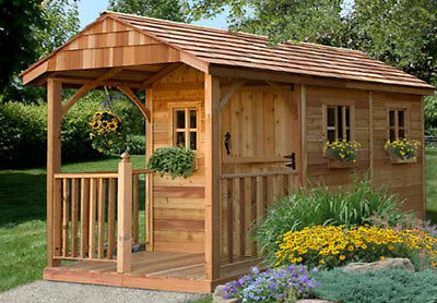 Outdoor Living Today Santa Rosa 8 ft. W x 12 ft. D Wooden Storage Shed