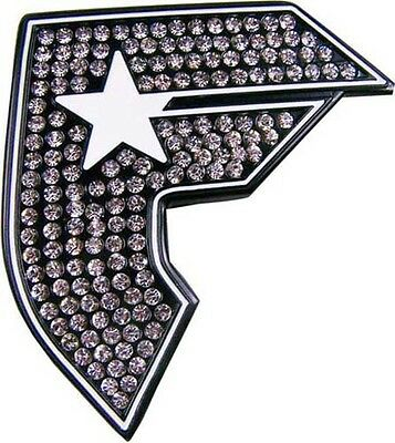 Famous Stars and Straps F Black White Belt Buckle With Cz Rhinestones New