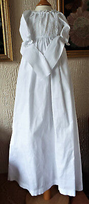 Vintage Baby Christening Dress/tie Waisted/embroidery