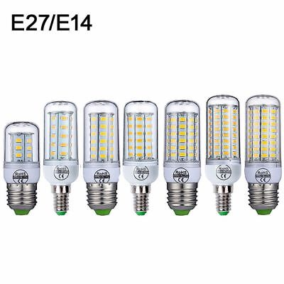 E27 E14 LED Lamp Bulb SMD 5730 Corn Bulb 15W 72 Led Cool/Warm White  110V 220V