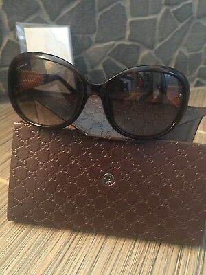bee06acf1ca GUCCI GG 3706 F S Oval Women Sunglasses Tortoise Havana Brown Gold Plated  GG3706