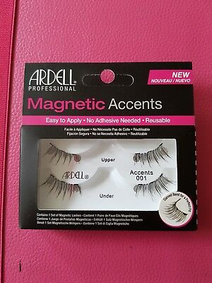 Brand New Ardell Magnetic Lash Accents 001 Black