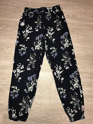 Flower Print Baggy Trousers From H & M Age 9-10