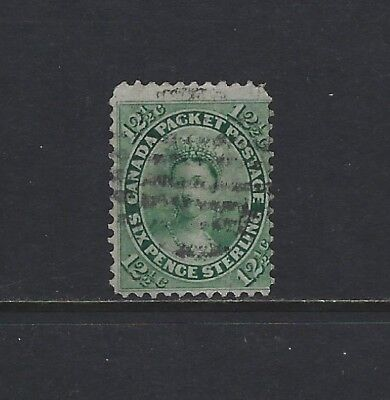 CANADA - #18 - 12 1/2c QUEEN VICTORIA JUMBO USED STAMP (1859) FIRST CENTS ISSUE