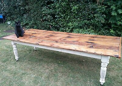 Large Cornish dining Table.12 seater Delivery available.