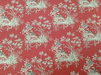 3 sheeets 1:12 Scale Les Chinoiseries Wallpaper Red Background Oriental Paattern