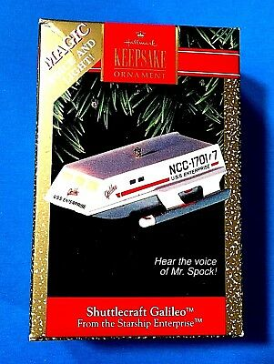 "Hallmark ""Shuttlecraft Galileo"" Starship Enterprise Ornament 1992"