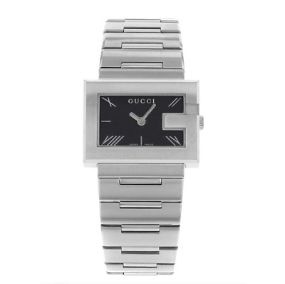 fe028010a0e Gucci Brand New YA100505 100L Women s Stainless Steel Quartz Black Dial  Watch