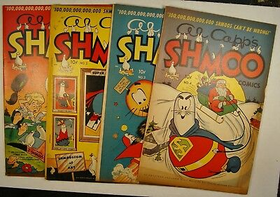 Al Capp's Shmoo Comics #1, 2, 3 & 4 (1949, Toby) First four issues