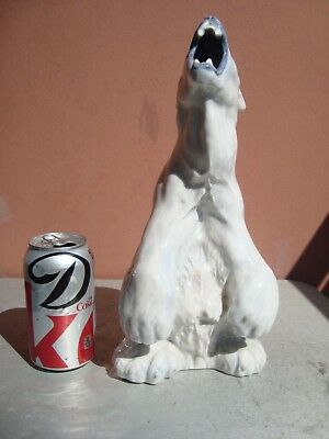 "Royal Copenhagen 12.5"" Seated Polar Bear #502"