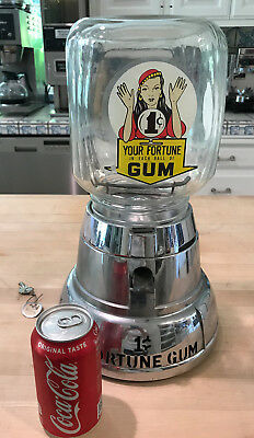 Vintage Gypsy Fortune Teller One Cent  Gumball Machine