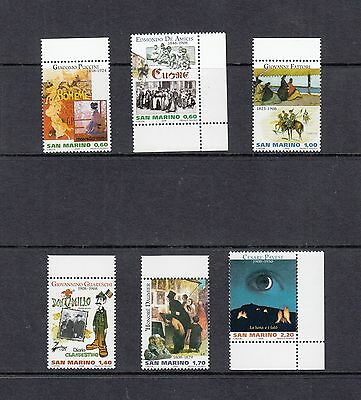 ART/OPERA/POSTERS/BOOKS/PAINTERS-San Marino- 2008 set of 6-(SC 1762-7 )-MNH-A674