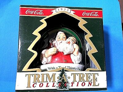 """Coca-Cola """"Away With  Tired Thirsty Face"""""""" Ornament 1992"""