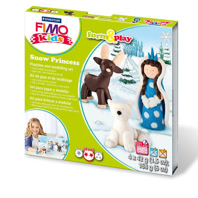 "New Fimo Kids Form & Play Set "" Snow """