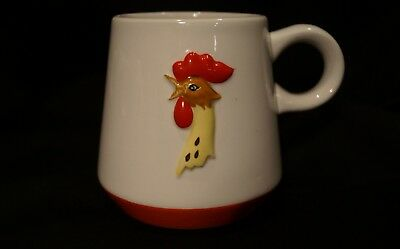 Vintage MCM Holt Howard Coq Rouge Rooster Coffee Mugs (c) 1960 Excellent