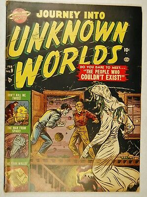 """Journey into Unknown Worlds #9 (Feb 1952, Atlas) """"The People Who Couldn't Exist!"""